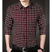 Men's Business Plus Size Shirt - Striped,...