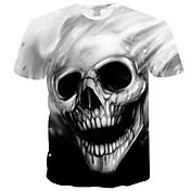 Men's Basic Plus Size Slim T-shirt - Skul...