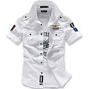Men's Street chic Slim Shirt - Geometric