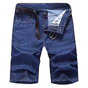 Men's Plus Size Shorts Pants - Solid Colo...