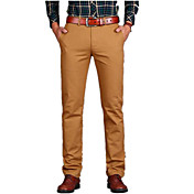 Men's Cotton Chinos Pants - Solid Colored...