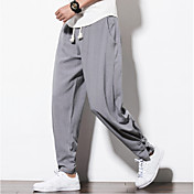 Men's Plus Size Linen Harem Loose Pants -...