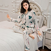 Women's Suits Pajamas-Print,Floral