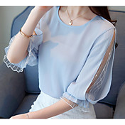 Women's Basic Blouse - Solid Colored