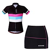 WOSAWE Short Sleeves Cycling Jersey with ...