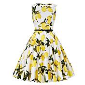 Women's Street chic A Line Dress - Floral...