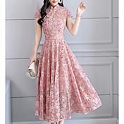 Women's Plus Size Basic Swing Dress - Flo...