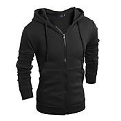 Men's Basic Long Sleeve Hoodie - Solid Co...