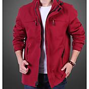 Men's Cotton Linen Jacket - Solid Colored...