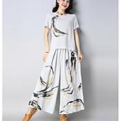 Women's Basic Set - Floral, Print Pant