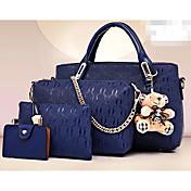 Women's Bags PU Bag Set 4 Pieces Purse Se...