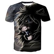 Men's Basic Cotton T-shirt - Animal Lion,...
