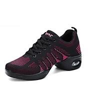 Women's Dance Sneakers Knit Sneaker Low H...