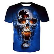 Men's Basic Cotton T-shirt - Skull Print ...