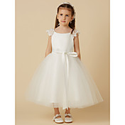 Princess Tea Length Flower Girl Dress - L...