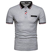 Men's Basic Cotton Polo - Color Block Shi...