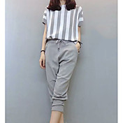 Women's Going out Slim Shirt - Striped Pa...