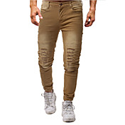 Men's Basic Jeans Pants - Solid Colored