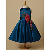 Princess Knee Length Flower Girl Dress - ...