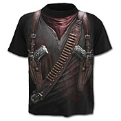 Men's Exaggerated Military Street chic T-...