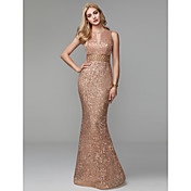 Sheath / Column Jewel Neck Floor Length S...