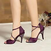 Women's Latin Shoes Silk Heel Stiletto He...