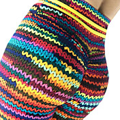 Women's Basic Legging - Rainbow Mid Waist