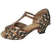 Women's Latin Shoes PU Heel Thick Heel Cu...