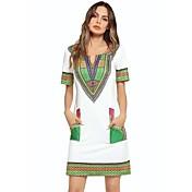 Women's Basic Sheath Dress - Geometric Hi...