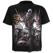Men's Skull Exaggerated T-shirt - Color B...
