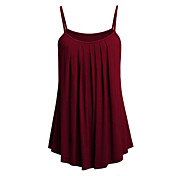 women's tank top - solid colored strap