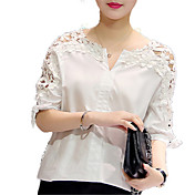 women's shirt - solid colored round neck