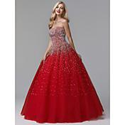 Ball Gown Strapless Floor Length Satin / ...