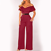 women's club jumpsuit - solid colored hig...