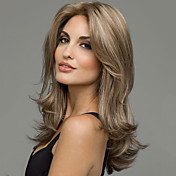 Synthetic Wig Natural Wave Blonde Wig Mid...