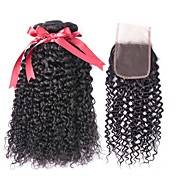 Brazilian Hair Curly Natural Color Hair W...