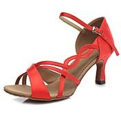 Women's Latin Shoes Satin Sandal / Heel B...