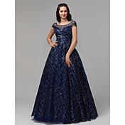 Ball Gown Boat Neck Floor Length Tulle / ...