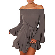 Women's Plus Size Flare Sleeve Cotton Shi...