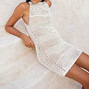 Women's Crochet Cover-Up - Solid Colored