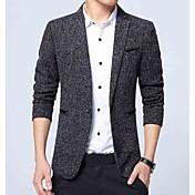 men's work blazer - solid colored shirt c...