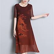 women's linen shift dress midi