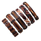 Herr Läder Armband - Läder Mode Armband B...
