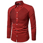 Men's Basic Shirt - Solid Colored Cut Out...