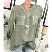 Women's Going out Blouse - Solid Colored