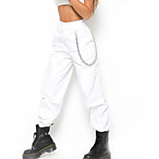 Women's Punk & Gothic Chinos Pants - Soli...