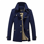 Men's Street chic Coat - Solid Colored St...