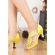 Women's Latin Shoes Satin Heel Thick Heel...