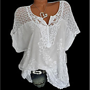 Women's Basic Shirt - Solid Colored Lace