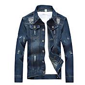 Men's Denim Jacket - Solid Colored Shirt ...